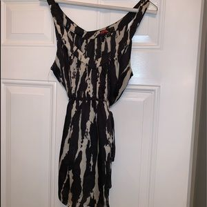 Forever 21 silky top with sash below breast. Sz M